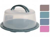 podnos s krytem kulatý 34cm v.15cm plastový - mix barev