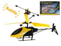 Helikoptéra 20 cm reagující na pohyb ruky na baterie svítící s USB - mix barev