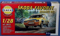 Model Kliklak Škoda Favorit Rallye 96 13,5x6,7cm