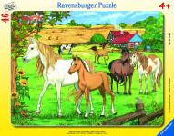 Ravensburger puzzle Koně 30-48 dílků - VÝPRODEJ