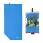 Spokey SIROCCO L Rychleschnoucí ručník 60x120 cm, modrý s odnímatelnou sponou