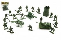 Sada vojáci s doplňky plast v sáčku