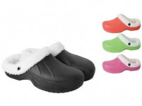 pantofle gumové zimní dámské vel. 41 (pár) - mix barev