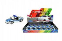Auto Welly policie Porsche 911(991) Carrera S kov/plast 12cm volný chod