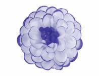 Květ JIŘINA umělý bílo fialový 8cm
