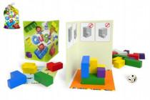 Qubolo společenská hra s dřevěnými kostkami v látkovém pytlíčku STRAGOO