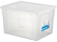 box úložný SCATOLA 20l, 40x30x24cm s víkem plastový, TRA