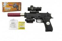 Pistole kov/plast na vodní kuličky + náboje 5-7mm