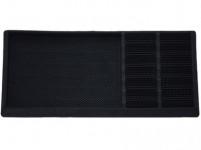 rohož s odkapávačem na obuv 80x40x2,3cm guma+PP ČER