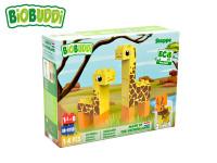 BiOBUDDi stavebnice Wildlife Steppe 2 v1 žirafa/jelen 14 ks