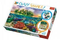 Puzzle Tropický Ostrov 600 dílků Crazy Shapes 68x48cm