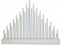 svícen vánoční el.33 svíček LED, dřev. BÍ, 40,2x30x5cm, do zásuvky