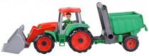 Auto Truxx traktor nakladač s přívěsem s figurkou 24m+