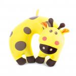 Spokey BAMBINI Cestovní polštářek dětský mikrokuličky žirafa