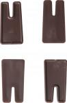 Plastia vyrovnávací nožičky Siesta čokoládové - 4 ks