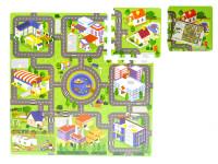 Pěnové puzzle Město 10m+