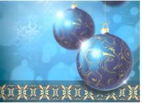 Dárková taška DXA vánoční modrá - ozdoby - VÝPRODEJ