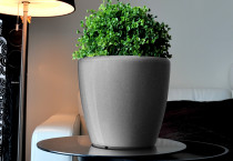 Samozavlažovací květináč GreenSun AQUAS průměr 22 cm, výška 21 cm, stříbrný