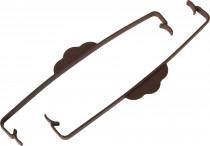 Plastia svorka na truhlík Siesta čokoládová - 2 ks - VÝPRODEJ