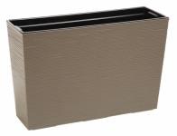 Truhlík WERBENA PROUTÍ plastový hnědo šedý 56x19x37cm