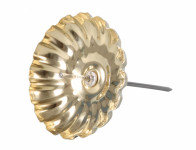 Bodec na svíčky ozdobný zlatý 4cm