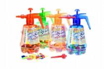 Pumpa na vodní bomby + bomby 100ks plast 30cm - mix barev - VÝPRODEJ