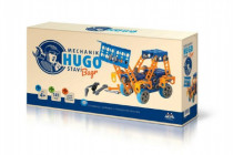 Mechanik Hugo staví Bagr Seva stavebnice s nářadím 141ks plast