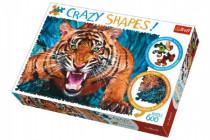 Puzzle Tváří v Tvář Tygrovi 600 dílků Crazy Shapes 68x48cm