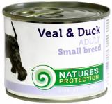 Nature's Protection Dog konz.Small telecí/kachna 200 g