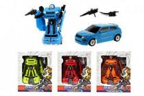 Transformer auto/robot plast 17cm - mix barev - VÝPRODEJ