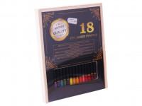 Pastelky Exclusive art v dřevěné krabičce 18 ks