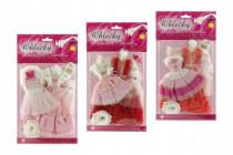 Šaty/Oblečky na panenky 2ks s doplňky na kartě 21x30cm - mix variant či barev