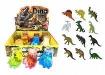 Sliz - hmota tlapa dinosaurus 8cm - mix barev