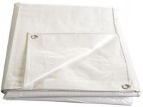 Plachta kašírovaná nepromokavá bílá 140g/m2 - 4x5 m