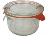 sklenice zavařovací 200ml WECK + víčko, těsnění, 2 spony