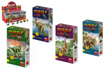 Puzzle Dinosauři 23,5x21,5cm 60 dílků + figurka - mix variant či barev