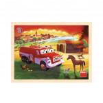 Puzzle dřevěné 20 dílků Tatra hasiči