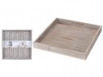 podnos dekorační 30x30x3cm dřevěný ŠE - VÝPRODEJ