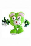 Hračka pes Trio Monster Friend zelený plyš 21cm