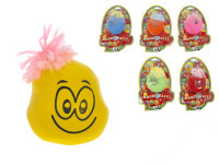 Veselý míček tvarovací 8 cm s obličejem - mix variant či barev