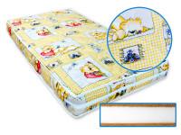 Dětská matrace 140x70 cm, Superlux, kokos - molitan - kokos, žlutá, Cuculo