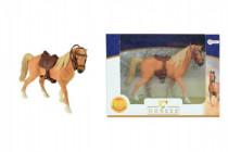 Kůň se sedlem plast 14cm