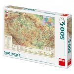Puzzle 500 dílků Mapa České republiky