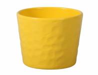 Obal na květník NEAPOL keramický žlutý lesklý d13x12cm