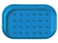 mýdlenka obdélníková 12,5x9cm plastová - mix barev