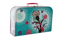 Kufřík Sova zeleno/růžový