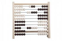 Počítadlo 100 kuliček dřevo/kov 24x23cm