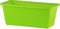 Truhlík malý s otvory - hráškově zelený 20 cm