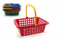 Nákupní košík plast 12m+ - mix barev - VÝPRODEJ