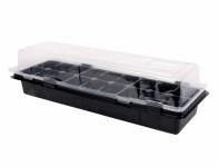 Minipařeniště MEDIUM 18 otvorů černé 47x16x12cm 2ks